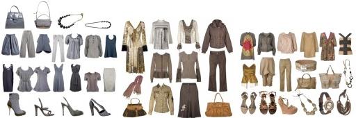 capsule wardrobe - Stile staples - Neutrals fron grays to golden rose