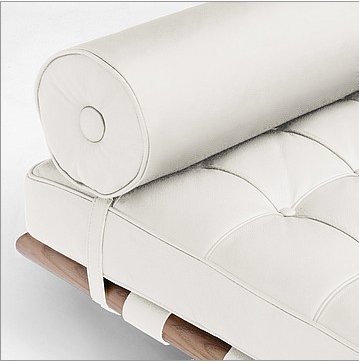 Barcelona Daybed Reproduction snow white leather Price- $2,240.00