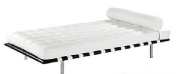 Miami oulet - Daybed in snow white leather (reproduction) price $690