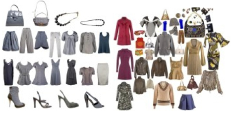 Capsule wardrobe - black, gray, navy, taupe neutrals