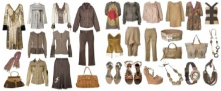 Capsule wardrobe - golden and rose beige neutrals