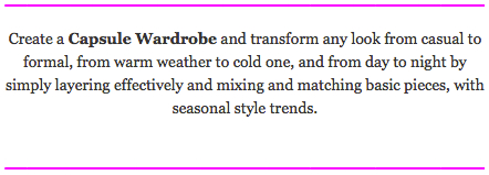 Capsule wardrobe - header text