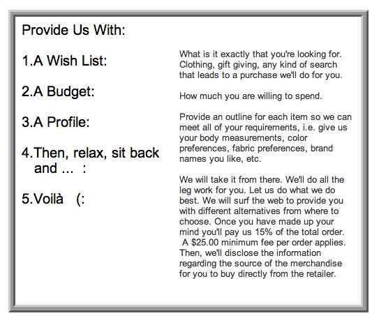 DOSSIER: Wish List